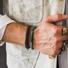 Pohier 925 пробы Серебряный Натуральный Камень ручной работы тибетские браслеты для женщин и мужчин бусины браслеты