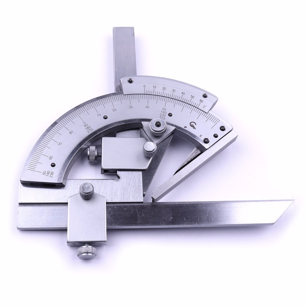 Stainless Steel 0-320 Degree Precision Angle Bevel Finder Protractor Angle Gauge