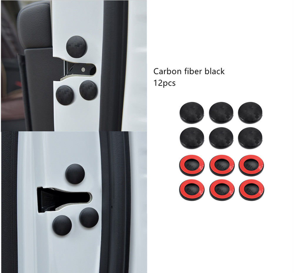 12pcs Car Door Lock Screw Protector Cover For Mitsubishi Asx Lancer Outlander Pajero EVO Car Accessories