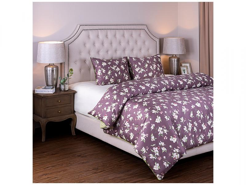 Bedding Set double-euro SANTALINO, Яблоневый color, pink/White colorful 3d butterfly print with white color duvet cover 4 piece bedding sets