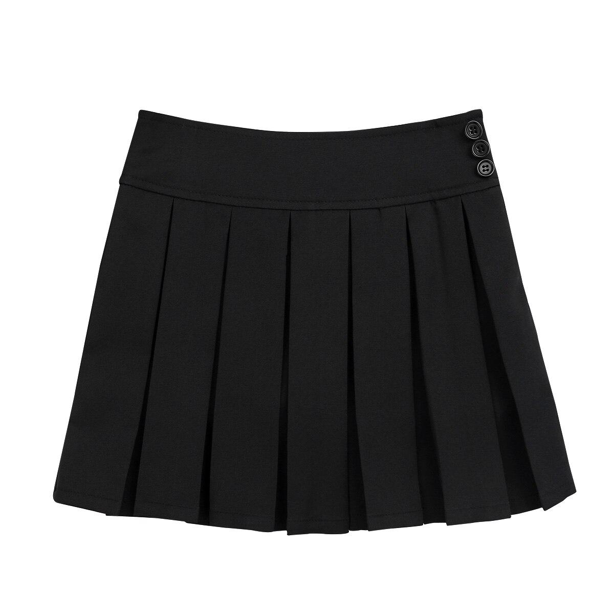 Iiniim Kinder Mädchen Schuluniform Plissee Side Zipper Buttons Roller Dance Rock mit Versteckte Shorts Schule Rock