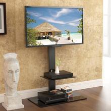 Fitueyes поворотный пол ТВ стенд с горы с регулируемой высотой для 32-65 дюймов ТВ светодиодный ЖК-дисплей до 110lbs tt207001mb