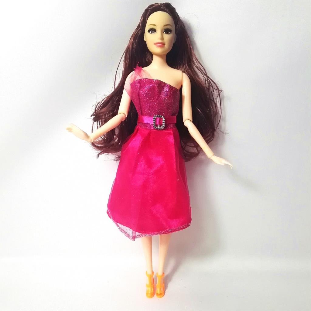 2016 Newest Doll Dress Beautiful Handmade Party ClothesTop Fashion Dress For Barbie Noble Doll Best Child GirlsGift 056A