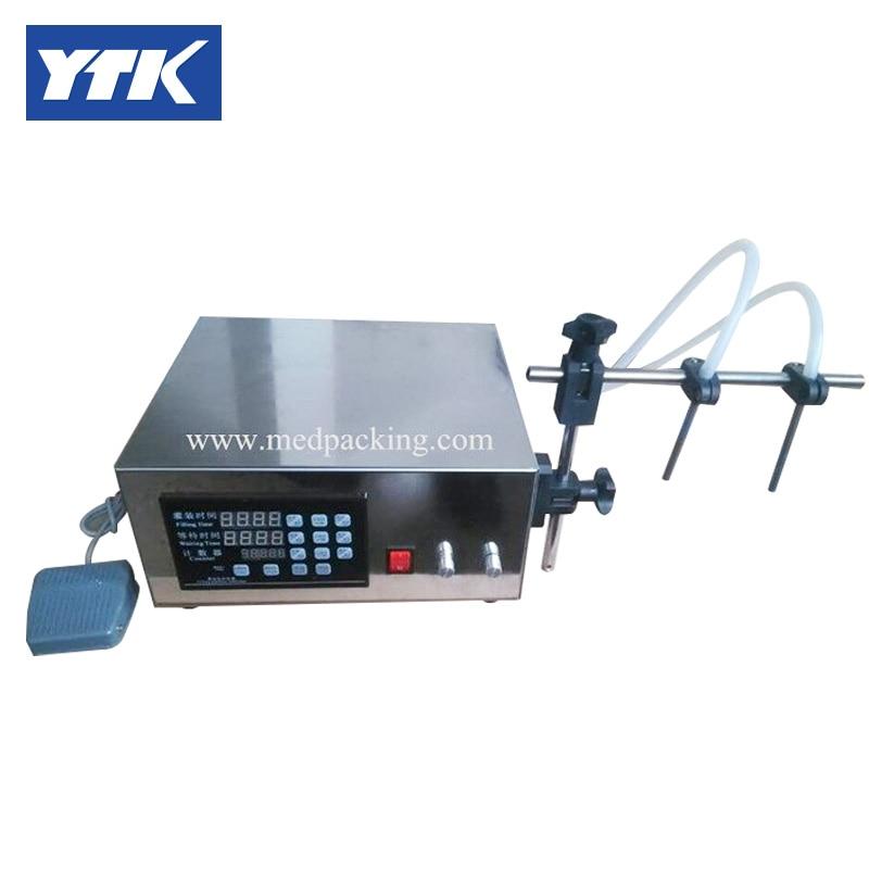YTK 3-3000ml Double Head Water Softdrink Liquid Filling Machine Digital Control.Max Flow Rate (L/min): 3.2 grind