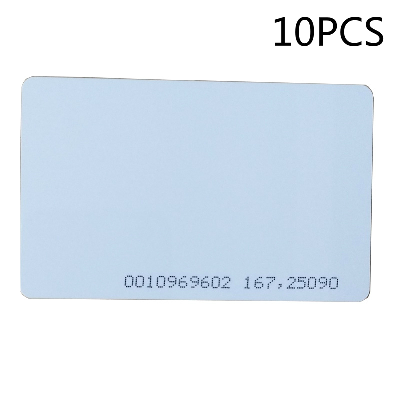 FGHGF 10pcs/lot rfid card 125khz TK4100 blank smart card EM4100 ID pvc card with UID series number for access control system 200pcs lot customable 8 4mm mag stripe 2 track pvc smart card