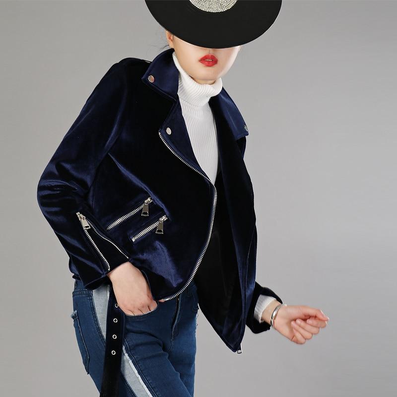 En Printemps Court Manteaux Lxmsth Ceinture Blue Velours Manches 2019 Mode Vestes vert Manteau Mince Femmes Longues Veste Bomber bourgogne Et À Zipper Dark OfOxI