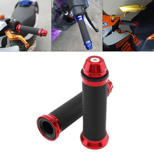 Univeral 2pcs Motorcycle Handlebar Cover for in 22mm Diameter Red Blue Motorbike