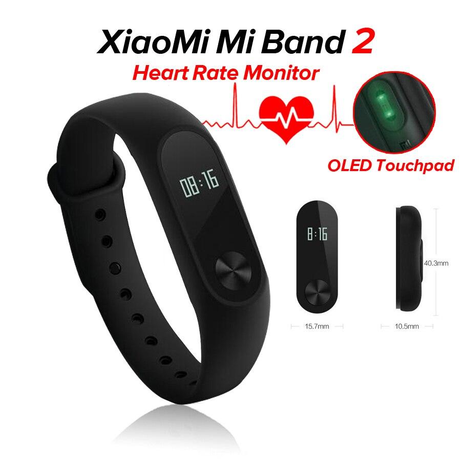 Xiaomi Mi Band 2 1 S 1 Astuto Della Vigilanza del Wristband Del Braccialetto xiomi mi band2 Frequenza Cardiaca Fitness Tracker miband band2 Per IOS Android