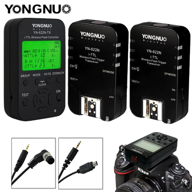 Yongnuo YN-622N-TX YN-622N Trasceiver Wireless TTL Flash Controller for Nikon D800 D800E D800S YN-622N-TX + 2 2PCS YN-622N For купить