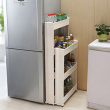 Moving Rack Kitchen Storage Shelf Wall Cabinets Bedroom Bathroom Organizer  With Moving Rack(China)