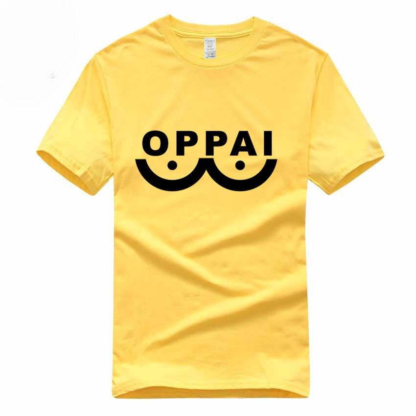 Hero Saitama One Punch Man Oppai Funny   T  -  shirt   Summer Euro Size 100% Cotton Short Sleeve O-Neck Men And Women   T     Shirt   GMT3000019