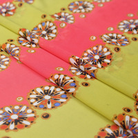 2016 Digital Printing real fabric georgette dress shirt wild silk fabrics wholesale high quality silk cloth