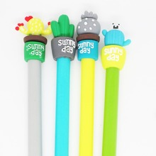 Creative Cactus potted style black Gel pen student pen writing Supplies  Office signature pen Decorative pen simbalion glass cling marker can be peeled off decorative pen tearable glass decorative pen creative diy graffiti pen sticky pen