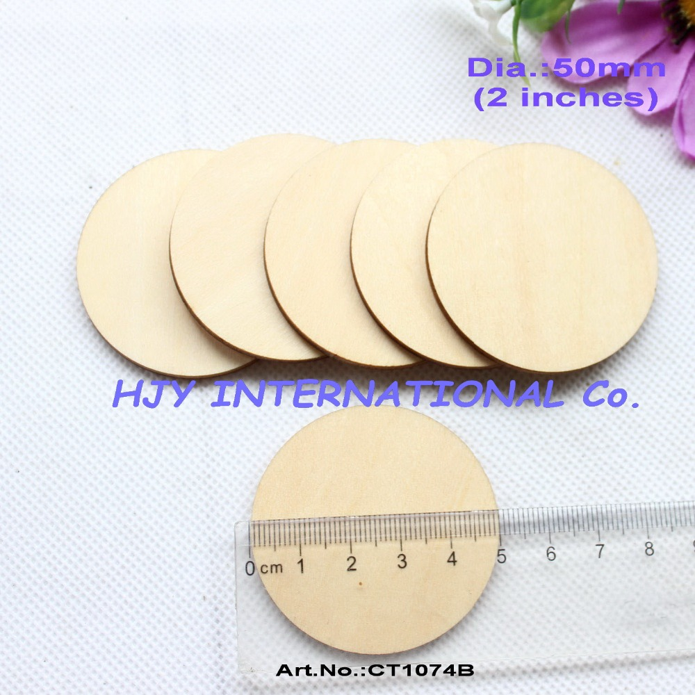 Wooden circles for crafts -  40pcs Lot 50mm Unfinished Blank Wooden Circle Wood Tags Decor Gift Tags Laser Cut Craft Supplies 2 Ct1074b