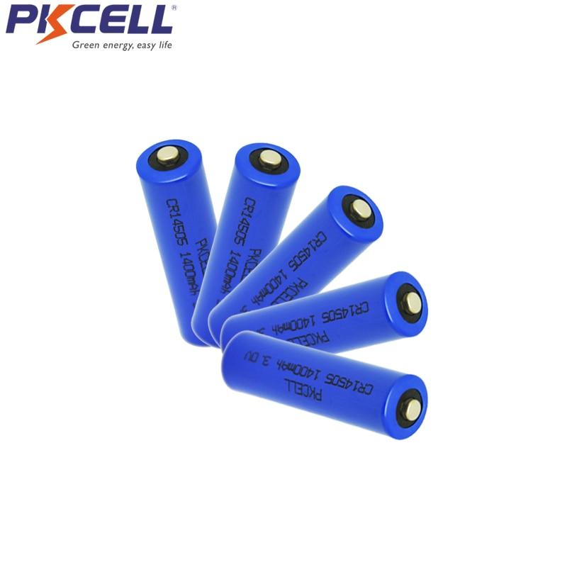 ᗚ5pcs 3v Cr14505 Aa Li Mno2 Battery 1400mah 2a Batteries