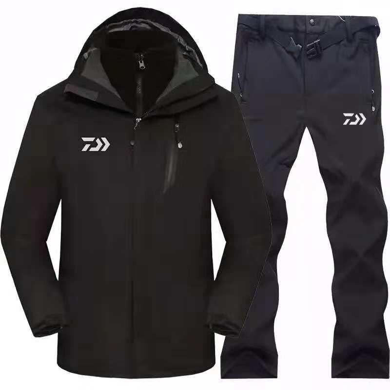 2019 marque Daiwa vêtements de pêche ensembles hommes respirant tenue de sport ensemble randonnée coupe-vent Dawa nouveaux vêtements veste de pêche et pantalon