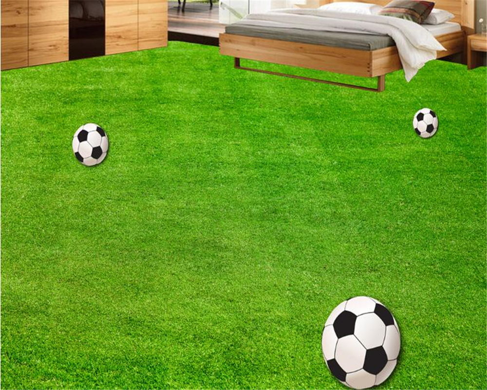 Beibehang tapety maison de mode peinture sol vert terrain de football chambre salon stéréo 3d étage