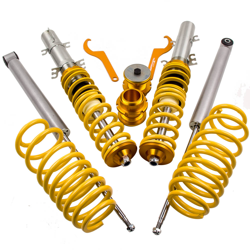 Coilover Suspension kit for VW Golf MK4 SEAT LEAON MK1 1M BEETLE 9C Shock Absorber Struts Coil Springs Loweing Kit