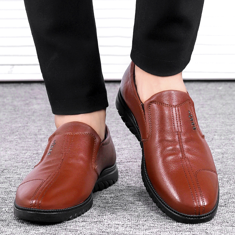 NORTHMARCH 2018 Shoes Men Genuine Leather Slip On Shoes Men Breathable Mens Office Shoes Leather Chaussure Classique Homme in Men 39 s Casual Shoes from Shoes