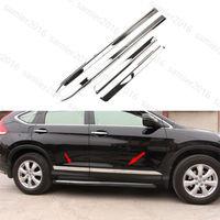 4pcs Steel Fit For Honda CRV CR V 12 16 Outer Body Door Side Molding trim Cover
