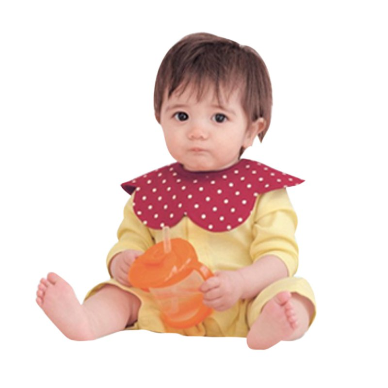 Baby Waterproof Bibs Cotton Flower Slobber Towel Baby Bib Swivel Snap Octagonal Circular Rice Bag New