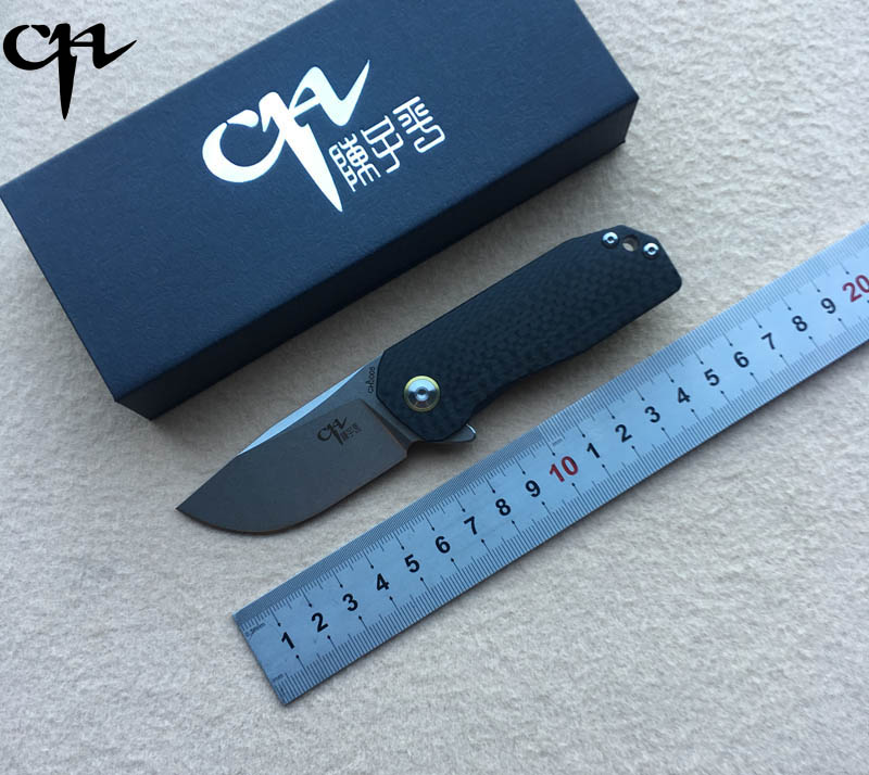 CH 3005 New arrival AUS-8 blade Titannium handle Outdoor Flipper folding knife camping hunting pocket fruit knives EDC tools stc15f104e 35i dip 15f104 dip8