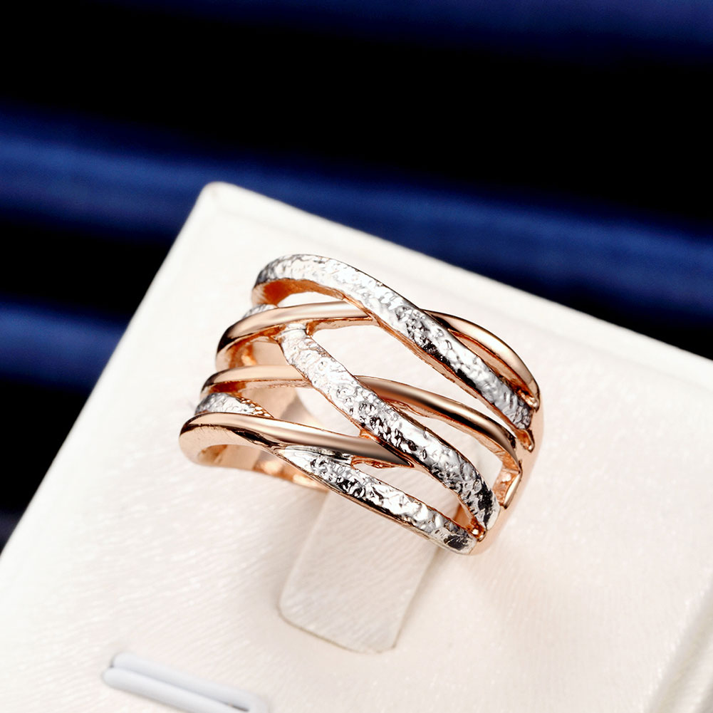 INALIS Brand New Fashion Jewelry Gold & Silver Color Cross Rings For Women Size 6 7 8 Female Party Finger Ring