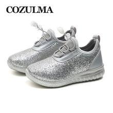 COZULMA Дитячі кросівки для хлопчиків Дівчата Дитячі дихаючі модні кросівки Золото Срібло Світле блискуче Дитяче м'яке нижнє бігове взуття