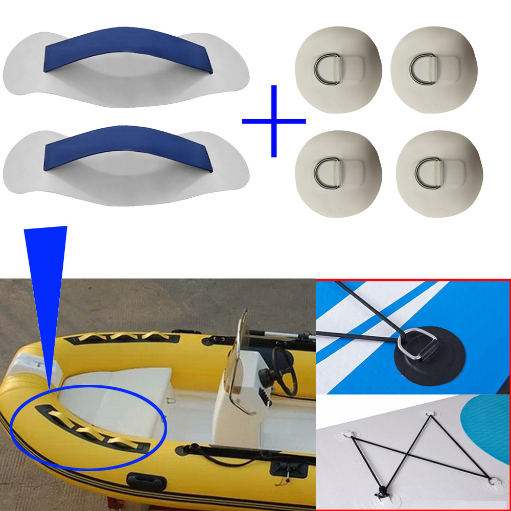 Inflatable Boats Seat Hook Strap Patch PVC Handle D Ring PVC Pad Patch Round Ring Pad For Raft Dinghy Kayak Surfboard