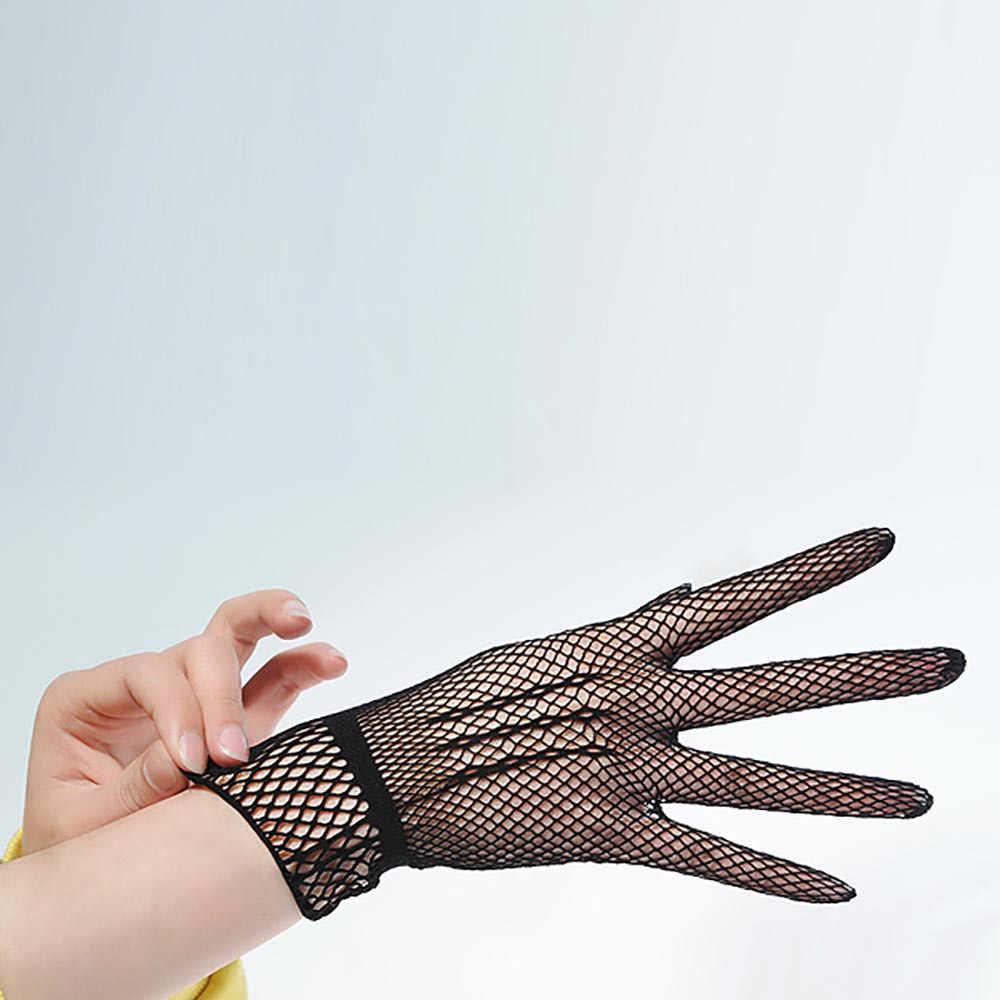 2018 găng tay găng tay Fishion eldiven găng tay fishnet Phụ Nữ Mùa Hè UV-Proof Găng Tay Lái Xe Lưới Thoáng Khí Găng Tay Fishnet Màu Đen và Trắng