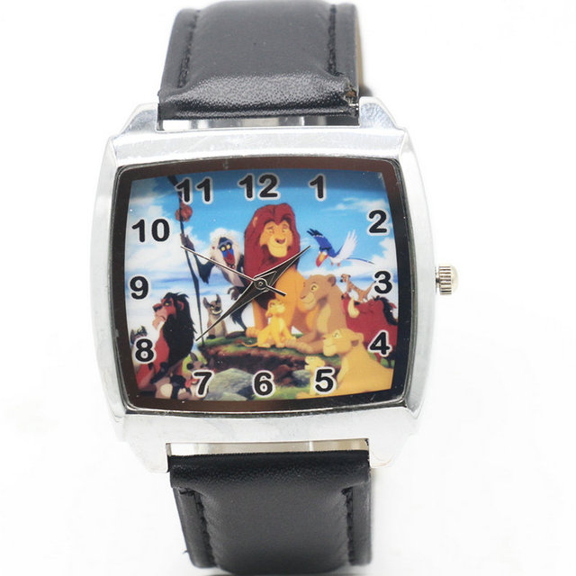 Cartoon Children Lion King Watch Fashion Lovely Cute Kids Watches for Student Bo