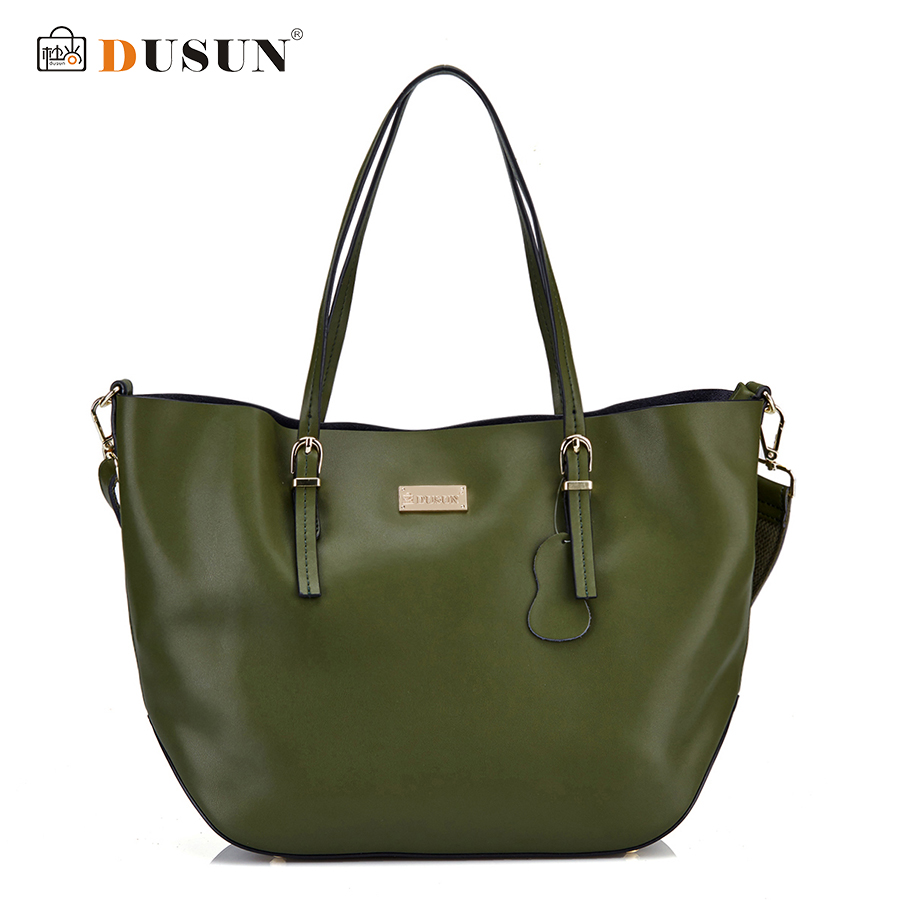 DUSUN New Women Handbag Genuine Leather Women Bag High Quality Shoulder Messenger Bag Casual Tote Women Handbags Bolsa Feminina shengdilu brand genuine leather handbag 2018 new women tote crocodile shoulder messenger bag bolsa feminina free shipping