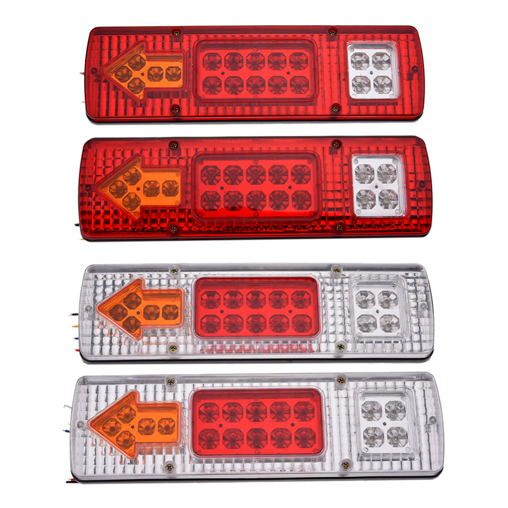 2pcs 131 Led 24v Tail Light Tricycle Truck Trailer Rear Stop Lamp Trike Brake Wiring Diagram Working Voltage 24 Number 19