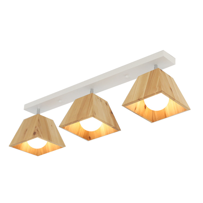 Japanese Wood LED Ceiling Lighting Fixture E27 Rotatable Ceiling Mounted Wooden Lamp Plafonnier Led Home Lighting|Ceiling Lights| |  - title=