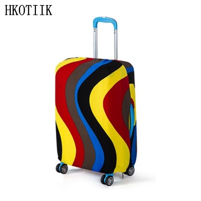 Հանրաճանաչ նորաձևության ճանապարհորդական ճամպրուկ Էլաստիկ պաշտպանիչ ծածկույթ Travelանապարհորդական պարագաներ 18-ից 30 դյույմ ճամպրուկի պաշտպանության ծածկով