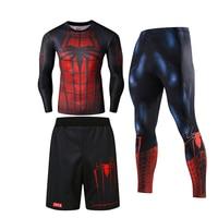 Hot Sale Batman Spider Man Iron Man Superman and Captain America Cosplay Costume 3D Comics Printing Tights Sportswear