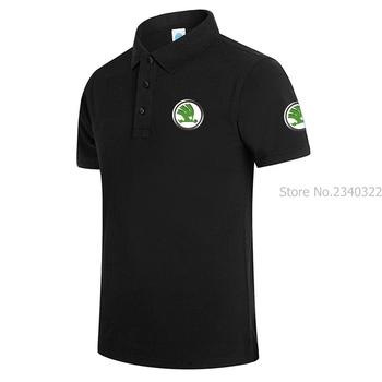 Mężczyźni Polo S-3XL koszulka POLO lato mężczyzna kontrast kolor koszulka Polo z krótkim rękawem SKODA koszulki sportowe na co dzień koszulki Polo Plus rozmiar tanie i dobre opinie REGULAR Stałe NONE Anty-pilling COTTON OnesLNN