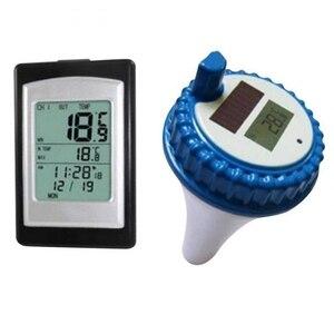 Image 2 - Draadloze Zwembad Thermometer Waterdicht Solar Power Zwemmen Spa Vijver Bad Bad Digitale Lcd Drijvende Water Temperatuur Meter  40C ~ 60C