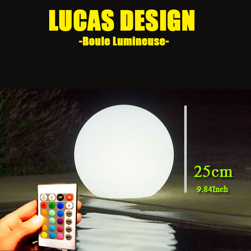 25cm Waterproof Floating LED Pool Balls table mood lamp LED Pool lights