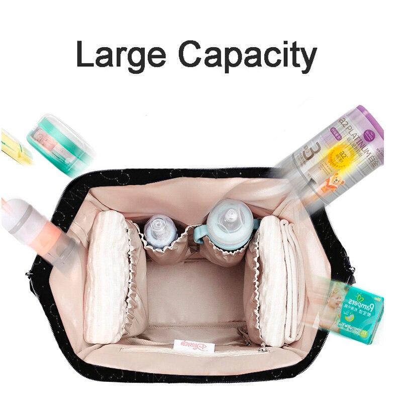 Sac à langer Disney sac à dos USB bouteille isolation sacs Minnie Mickey grande capacité voyage Oxford alimentation bébé momie sac à main - 5