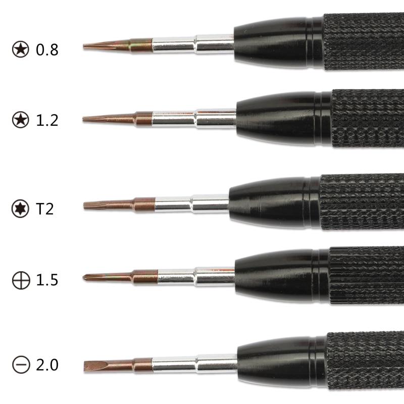 Купить с кэшбэком Professional Multi Tools Kit Screwdriver/Metal Spudger/Tweezers/Anti-static Wrist Strap For iPhone Ipad Computer Repair