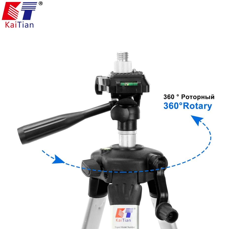 Kaitian Rapido Staffa per Treppiede Livello Laser a 360 Gradi di Rotazione 5/8 1/4 Pollici Angolo di Regolazione Dismountabl Connettore Strumento di Livellamento