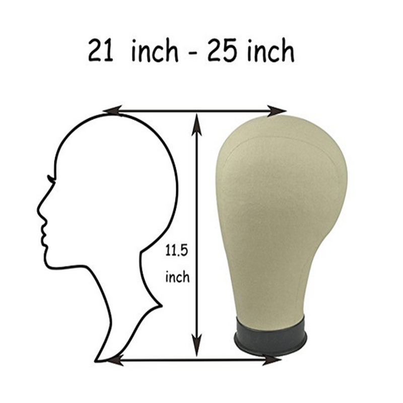 21-24 Cork Canvas Block Head Wig Making Head Weft/Wig Display Style Styling Mannequin Manikin Head Dryer 21 22 22 5 23 23 5 24 canvas block head mannequin head weft wig display style styling manikin head cork inside