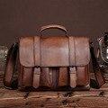 New Genuine Leather Men Briefcase Fashion Casual Tote Handbag Tablet PC Crossbody Bags Male Famous Brand Messenger Shoulder Bag