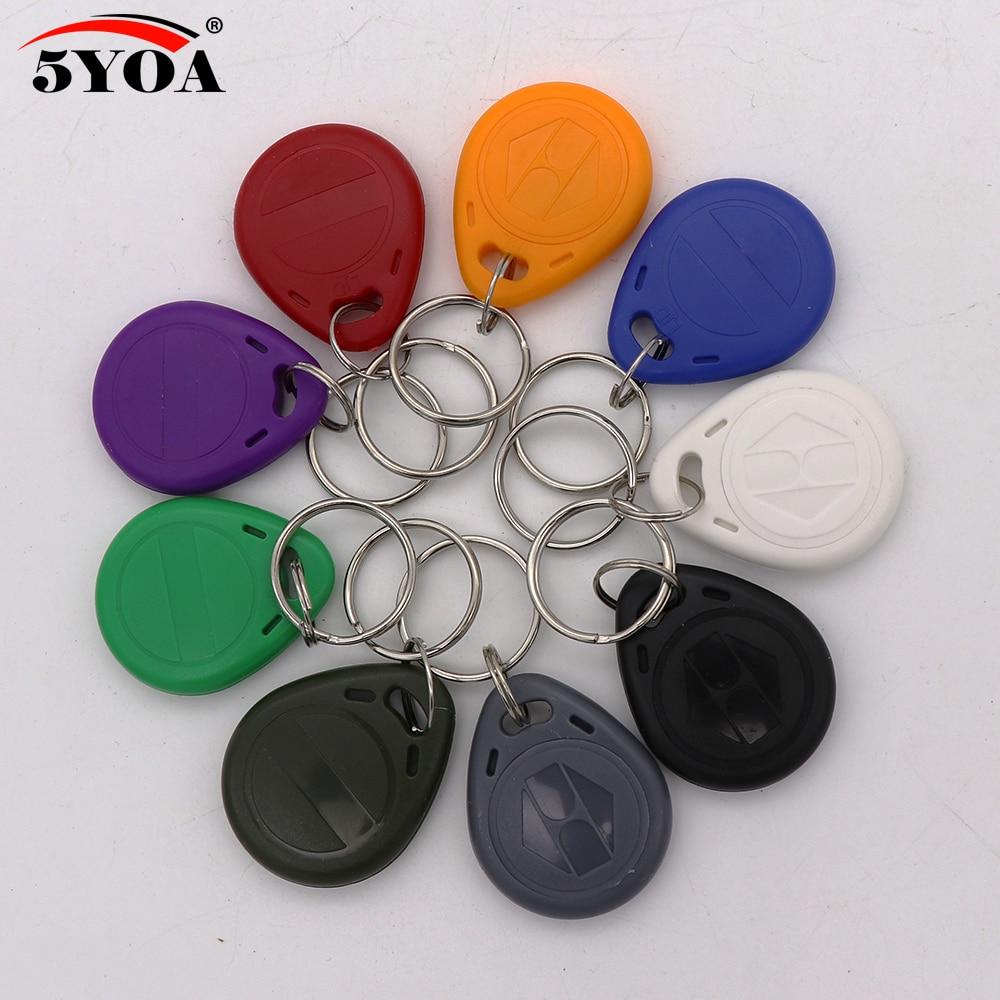 100 pçs/lote EM4305 Cópia Regravável Gravável Rewrite Anel Chave Tag RFID 125KHZ Cartão EM ID keyfobs Proximidade Token Badge Duplicado