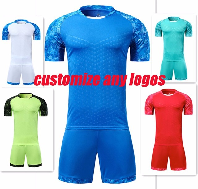 04452c8d4 Men plain football clothes men soccer jerseys adult blank trainning soccer  kits sportswear sets can