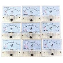 85C1-mA DC Amp Meters Analog Meter Panel  Measuring Range 1mA 2mA 10mA 20mA 50mA 100mA стоимость