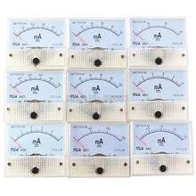 85c1-ma dc amp medidores analógico medidor painel faixa de medição 1ma 2ma 10ma 20ma 50ma 100ma