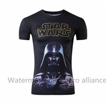 Fashionable Camisetas Vader T Shirts2016 Men Star Wars Casual Tshirt Hip Hop Summer New Short Sleeve T-shirt Free Shipping