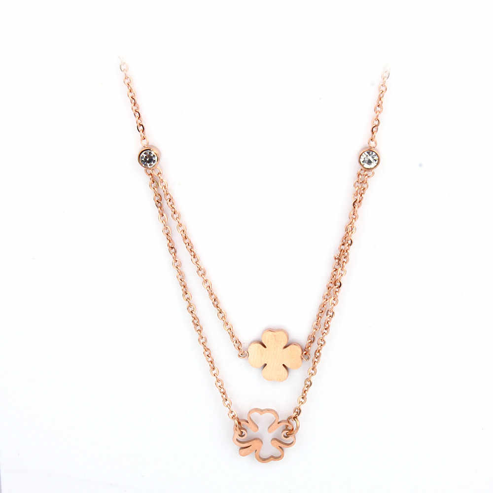 MWM thép không gỉ chain chocker cổ áo tốt nhất bạn bè dây chuyền & mặt dây neckless bijoux phụ nữ của quần áo clover nữ